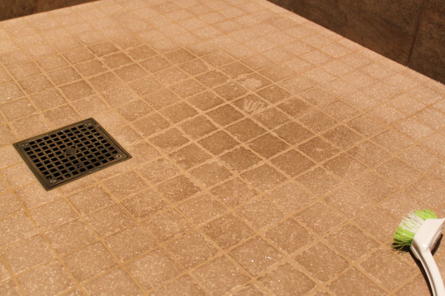 how to clean dirty shower floor