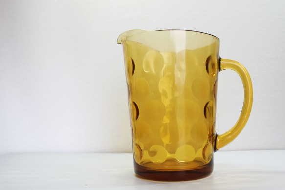 Amber Bubble Pitcher