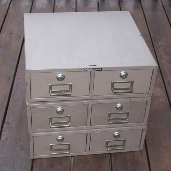 Brown File Drawers Stacked