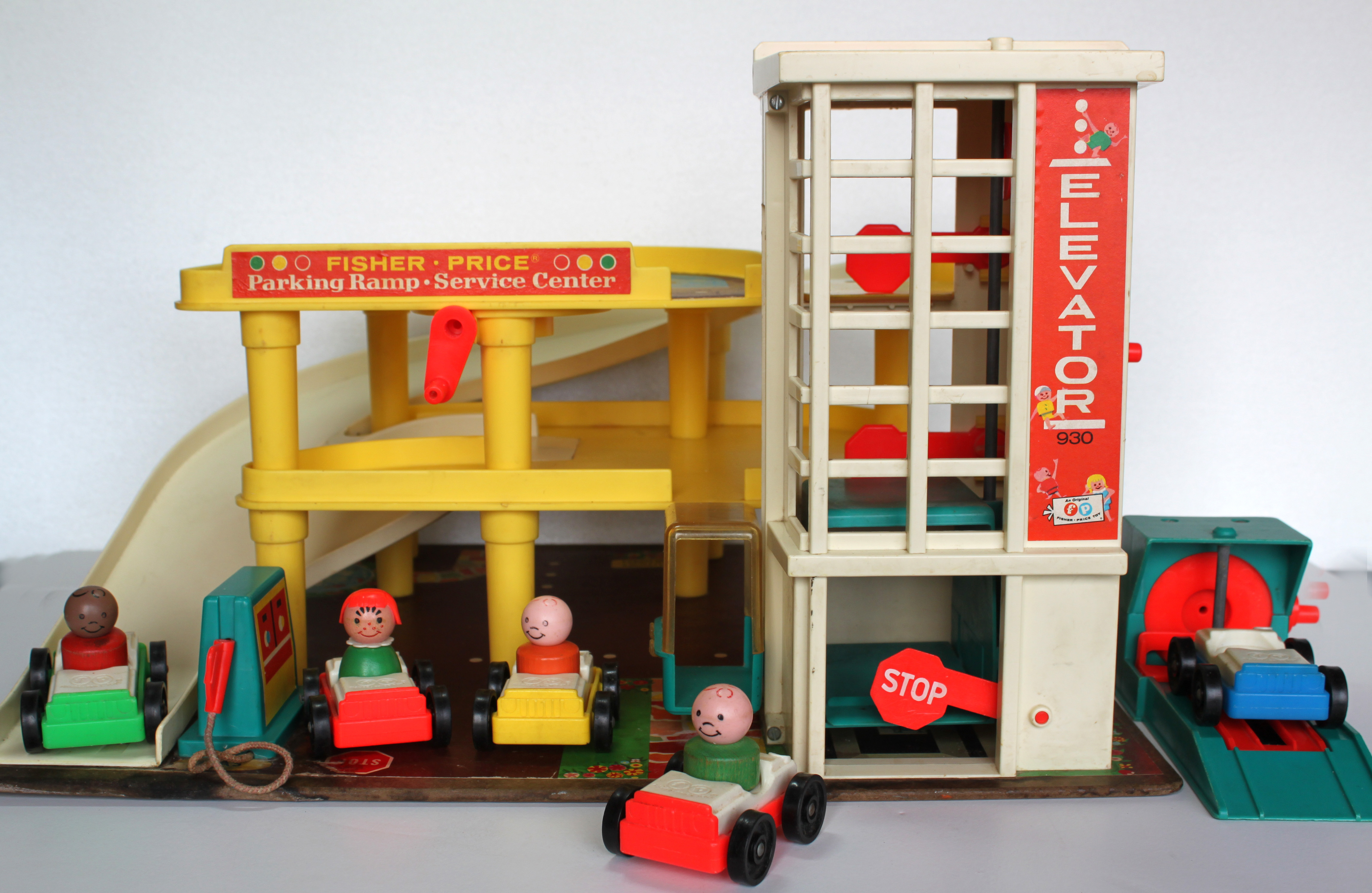 Vintage toy gas station