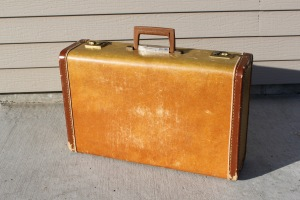 Brown Hardshell Suitcase a