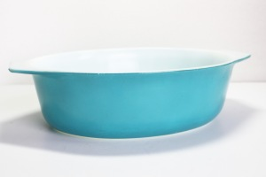 Pyrex Turquoise Casserole a