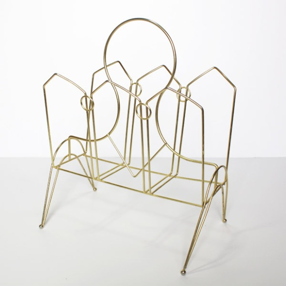 Gold Magazine Rack 1