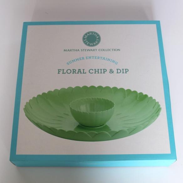 Martha Stewart Floral Chip and Dip Bowl