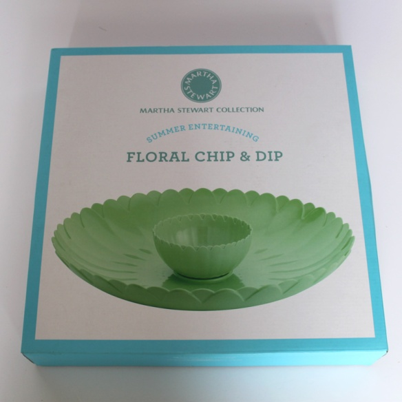 Martha Stewart Floral Chip and Dip Bowl