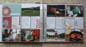 A layout from my Project Life Album of 7 on the 7th.  Been doing this for 2.5 years.  Just photos and journalling.  Love seeing our lives change in these pages.