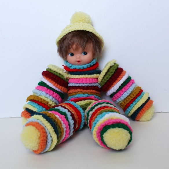 Crocheted Yo yo Doll a