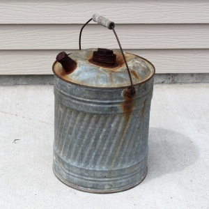 Galvanized Gas Can a