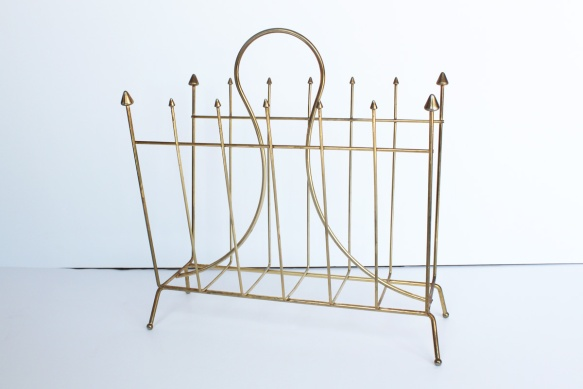 Gold Plated Magazine Rack a