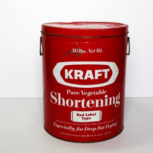 Kraft Shortening Tin a