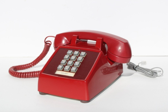 Red Push Buton Telephone a