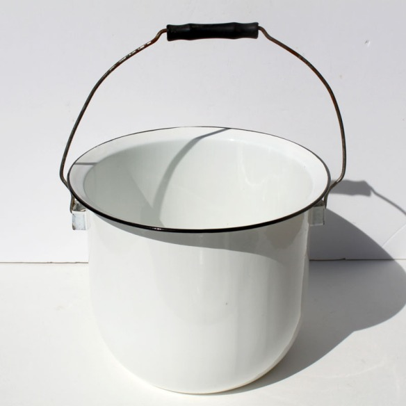 White Enamel Chamber Pot a