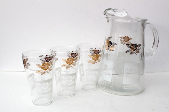 Rose Pitcher Glasses a