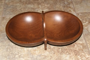 Wood Divided Bowl