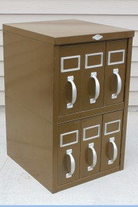 Artwork Metal Magazine File Cabinet a