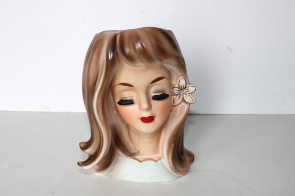 Lady Head Vase a