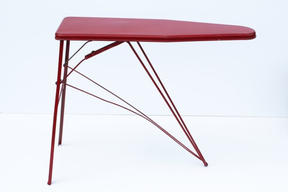 Red Metal Ironing Board a