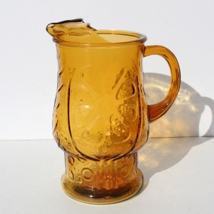 Amber Flower Pitcher a