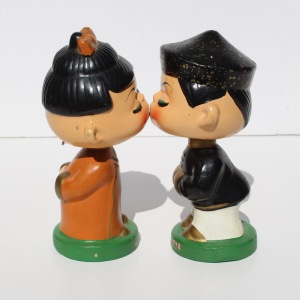 Asian Kiss Me Bobbleheads a