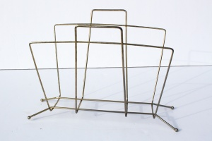 Gold Magazine Rack a