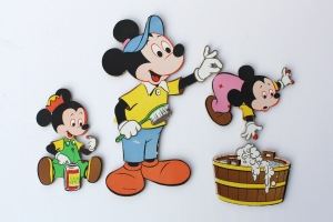 Mickey Mouse Bathroom Wall Hangings a