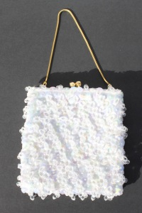 White Beaded Purse a