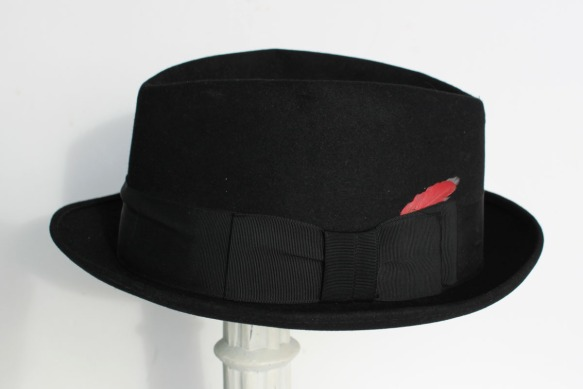 Black Fedora Hat b