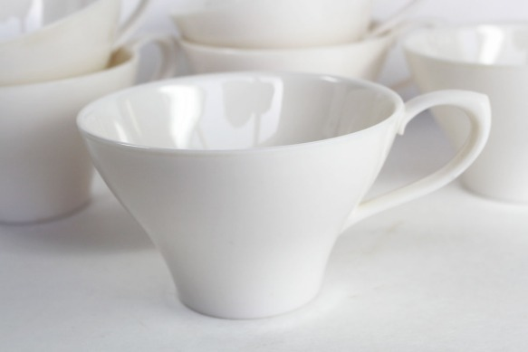 White Melmac Cups b