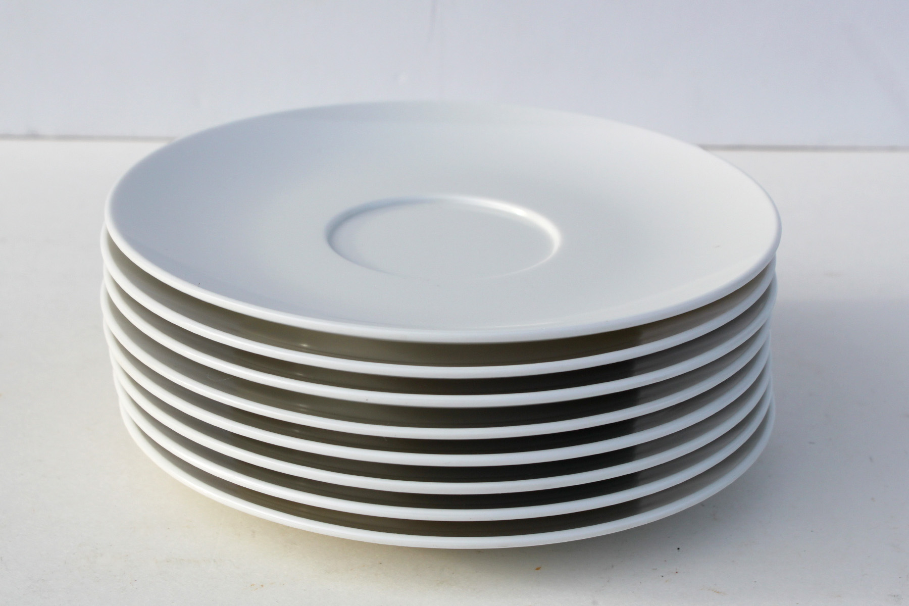 Saucers White Plastic Saucer Plate a