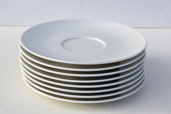 White Plastic Saucer Plate a