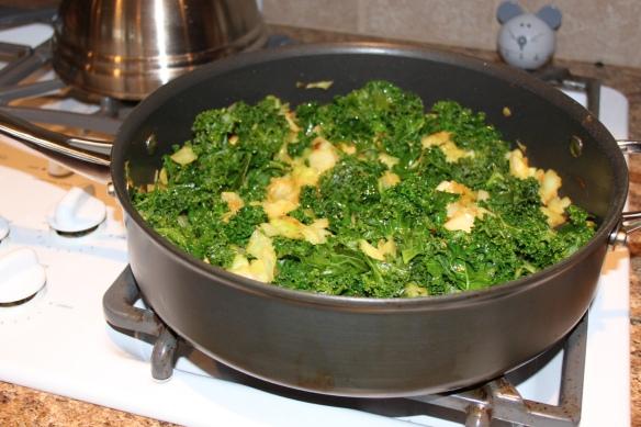 Cabbage Onion Kale Salad